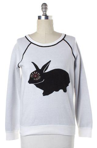 MARC BY MARC JACOBS Gray Black Rabbit Graphic Sweatshirt