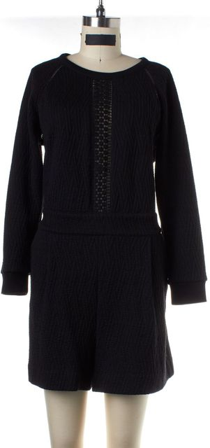 MARC BY MARC JACOBS Black Quilted Eyelet Romper