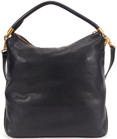 MARC BY MARC JACOBS Authentic Black Pebble Leather Shoulder Bag