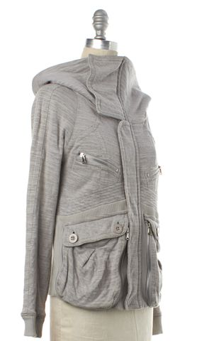 MARC BY MARC JACOBS Heather Gray Zip Up Sweater Jacket Size XS