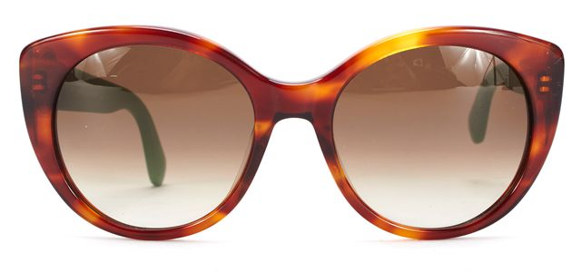 MARC BY MARC JACOBS Brown Green Tortoise Shell Contrast Cat Eye Sunglasses