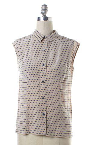 MARC BY MARC JACOBS Pink Blue Polka Dot Silk Button Down Shirt