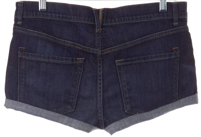 MARC BY MARC JACOBS Blue Dark Wash Cuffed Denim Jean Shorts Size 27