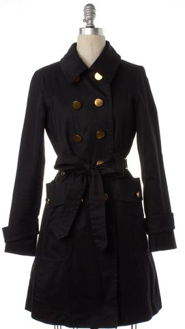 MARC BY MARC JACOBS Black Gold Button Trench Coat