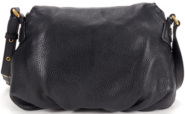 MARC BY MARC JACOBS Black Pebbled Leather Crossbody Bag