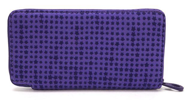 MARC BY MARC JACOBS Purple Neoprene Marquis Zip Around Continental Wallet