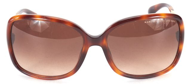 MARC BY MARC JACOBS Brown Tortoise Acetate Metal Gradient Rectangular Sunglasses