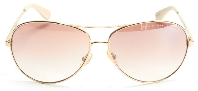 MARC BY MARC JACOBS Gold Wire Frame Brown Lens Aviator Sunglasses