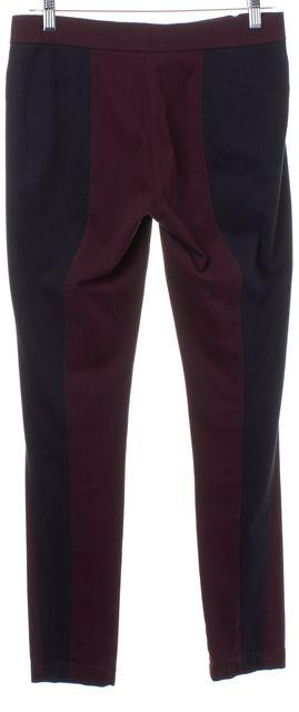 MARC BY MARC JACOBS Burgundy Red Navy Blue Zip Detail Leggings