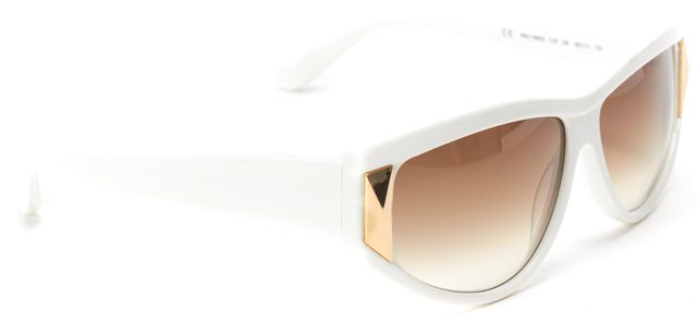 MARC BY MARC JACOBS White Acetate Frame Gradient Leans Rectangular Sunglasses
