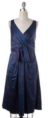 MARC BY MARC JACOBS Blue Purple Silk Sheath Dress