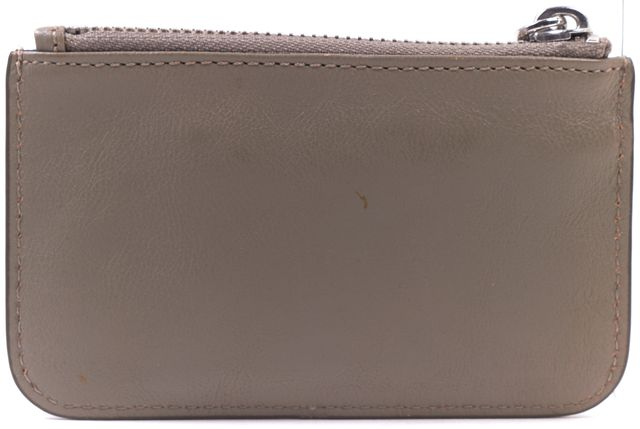 MARC BY MARC JACOBS Taupe Gray Leather Keychain Coin Pouch