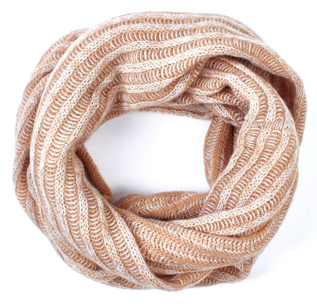 MARC BY MARC JACOBS Beige White Knit Infinity Scarf