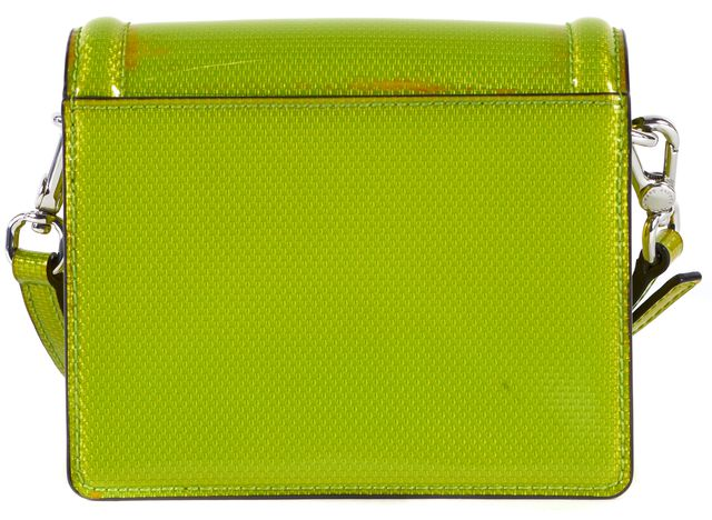 MARC BY MARC JACOBS Chartreuse Green PVC Mini Crossbody Bag