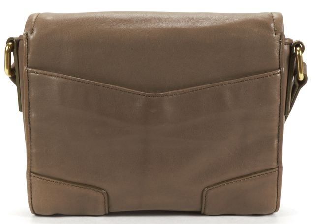 MARC BY MARC JACOBS Taupe Beige Gold Hardware Leather Envelope Crossbody