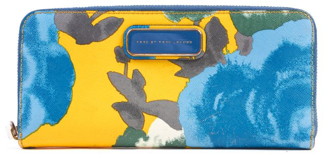 MARC BY MARC JACOBS Multicolor Abstract Print Coated Canvas Continental Wallet