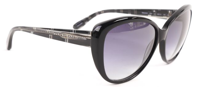 MARC BY MARC JACOBS Black Blue Acetate Frame Gradient Lens Butterfly Sunglasses