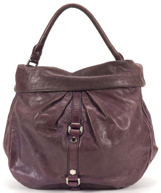 MARC BY MARC JACOBS Purple Distressed Leather Hobo Shoulder Bag