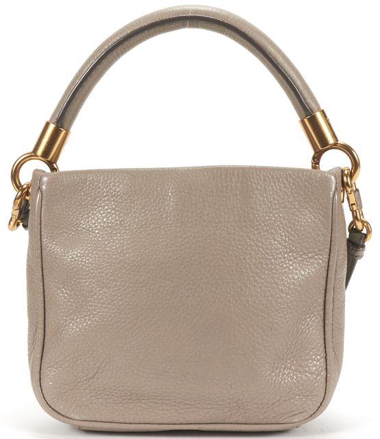 MARC BY MARC JACOBS Elephant Gray Pebbled Leather Mini Crossbody