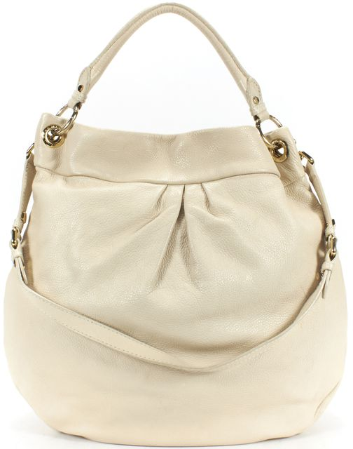 MARC BY MARC JACOBS Ivory Leather Classic Q Hillier Hobo Shoulder Bag