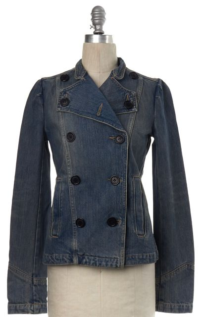 MARC BY MARC JACOBS Blue Double Breasted Jean Jacket
