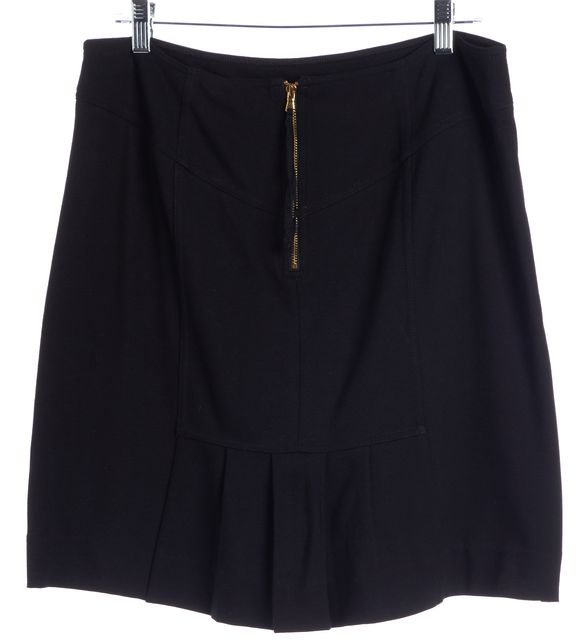MARC BY MARC JACOBS Black Pleated Back Stretch Knit Skirt