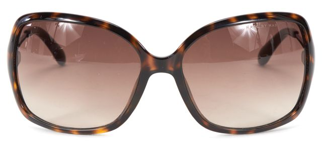 MARC BY MARC JACOBS Brown Tortoise Acetate Frame Gradient Lens Sunglasses