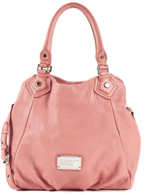 MARC BY MARC JACOBS Pink Blush Pebbled Leather Satchel Shoulder Bag