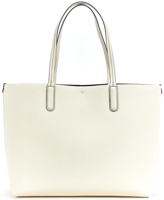 MARC BY MARC JACOBS Ivory Textured Saffiano Leather Tote Shoulder Bag