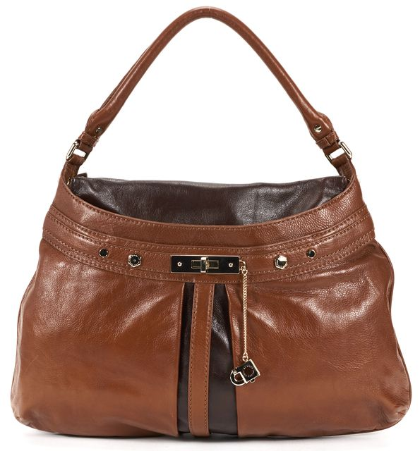 MARC BY MARC JACOBS Brown Striped Leather Shoulder Bag