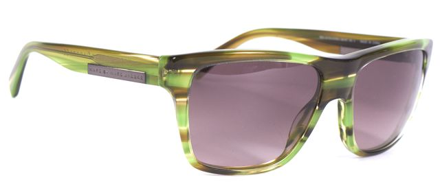 MARC BY MARC JACOBS Green Brown Acetate Gradient Lens Square Sunglasses