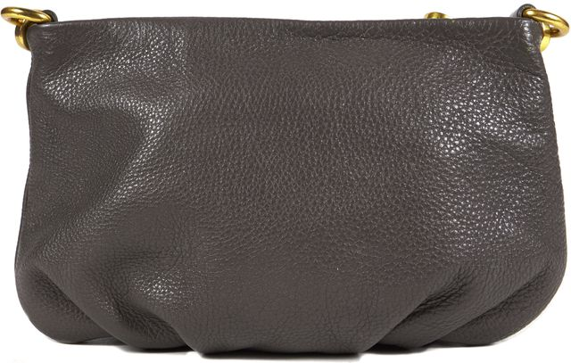 MARC BY MARC JACOBS Grey Pebbled Leather Leather Q Percy Cross-body Clutch Bag