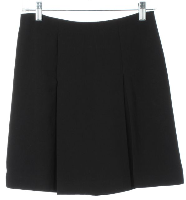 MARC BY MARC JACOBS Black Pleated Above Knee A-Line Skirt