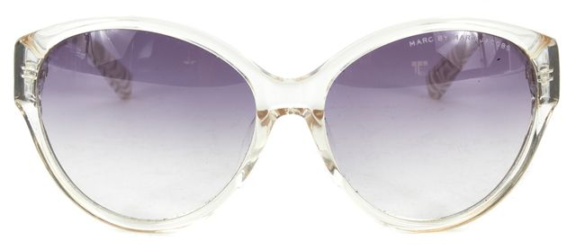 MARC BY MARC JACOBS Clear White Acetate Frame Gradient Lens Round Sunglasses