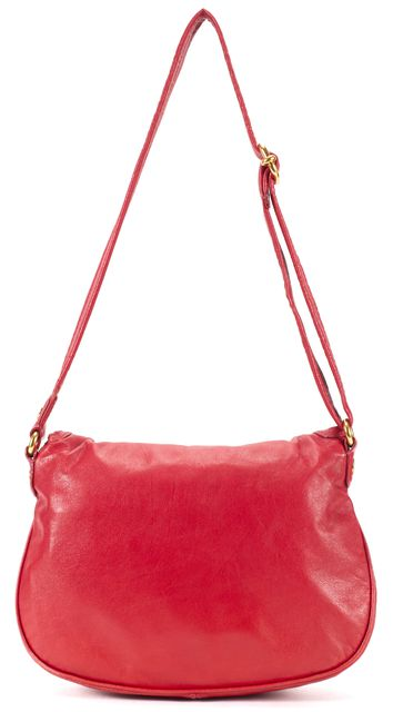 MARC BY MARC JACOBS Red Leather Flap Satchel Cross-body Bag