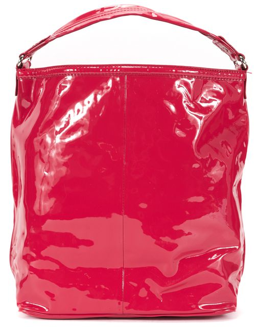 MARC BY MARC JACOBS Red Patent Leather Silver Hardware Hobo Bag