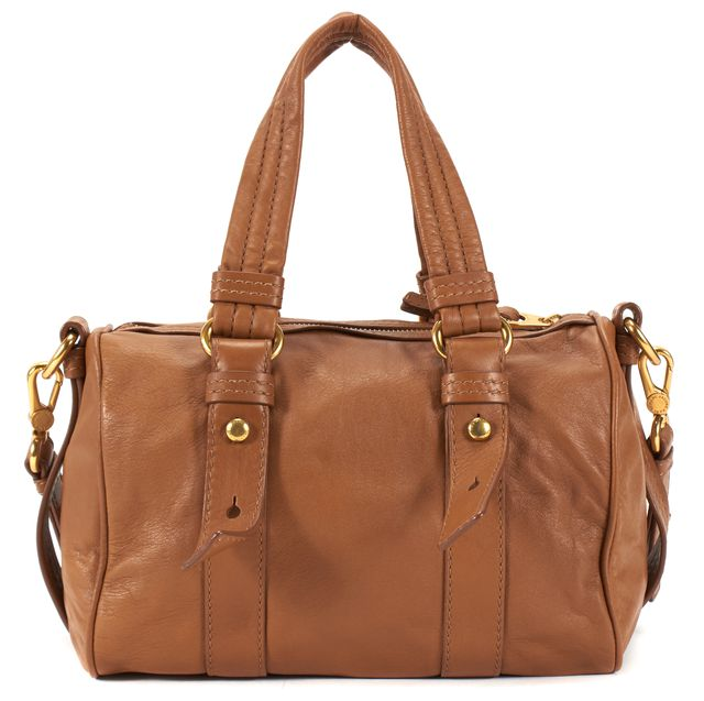 MARC BY MARC JACOBS Brown Leather Gold Hardware Satchel