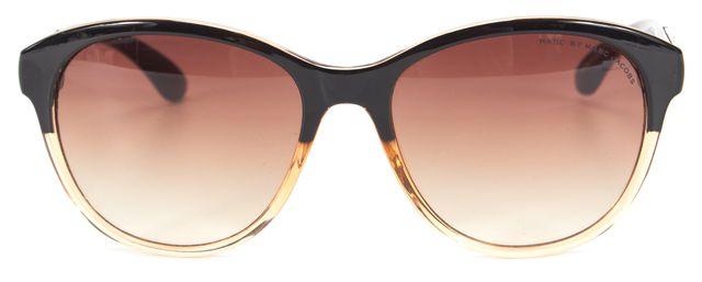 MARC BY MARC JACOBS Black Champagne Acetate Round Gradient Lens Sunglasses