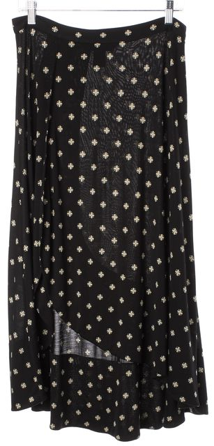 MARC BY MARC JACOBS Black Ivory Printed Silk Modal Jersey Maxi Skirt