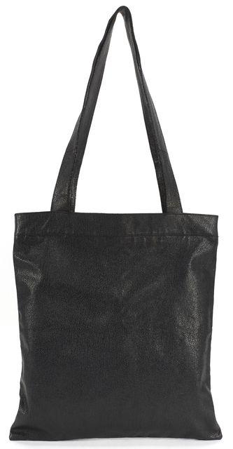 MARC JACOBS Metallic Black Pebbled Leather Zip Tote