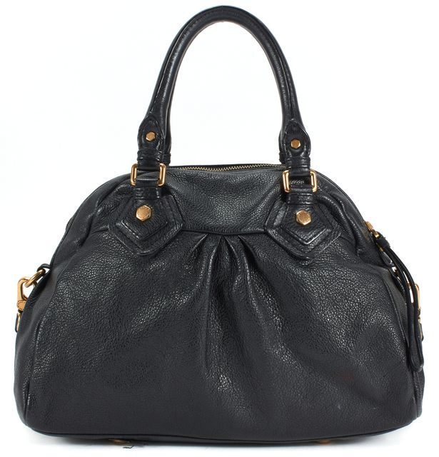 MARC BY MARC JACOBS Black Pebbled Leather Classic Q Groove Satchel