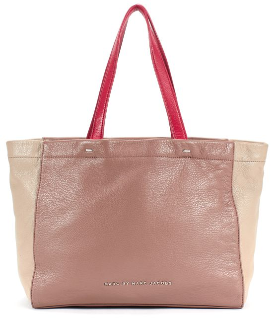 MARC BY MARC JACOBS Beige Leather Tote Handbag