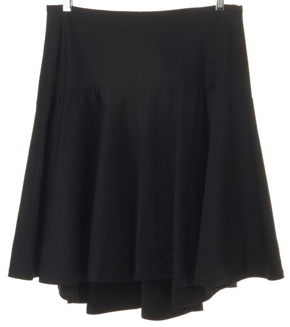 MARC BY MARC JACOBS Black Wool Above Knee Flounce A-Line Skirt