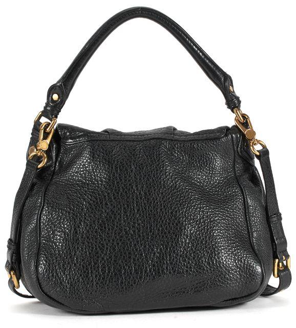 MARC BY MARC JACOBS Black Pebbled Leather Brass Hardware Shoulder Bag