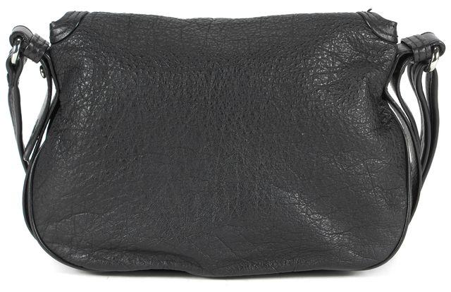 MARC BY MARC JACOBS Black Pebbled Leather Flap Adjustable Strap Shoulder Bag