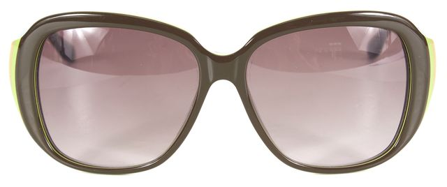 MARC BY MARC JACOBS Brown Green Blue Round Acetate Gradient Sunglasses