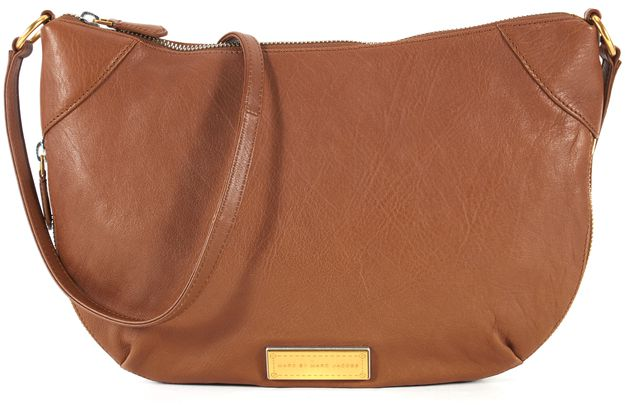MARC BY MARC JACOBS Cinnamon Stick Brown Leather Crossbody Bag