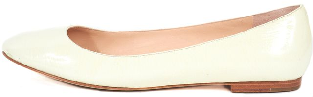 MARC BY MARC JACOBS Ivory Patent Leather Slip-On Flats