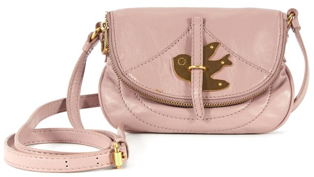 MARC BY MARC JACOBS Dusty Pink Leather Gold Hardware Small Crossbody Bag