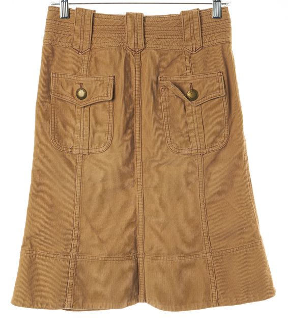 MARC BY MARC JACOBS Beige Corduroy A-Line Knee Length Skirt